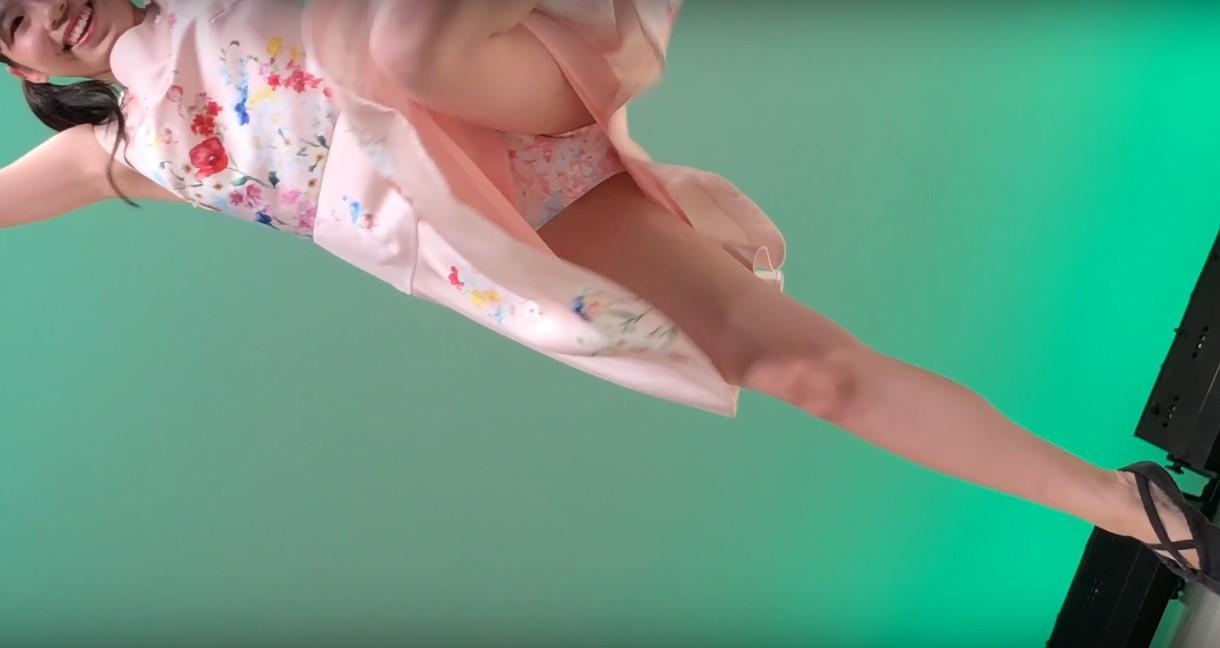 【星野百花】JKアイドルの花柄パンツが丸見えの神動画www | ぱんつべ